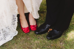 I am not sure if you can see but I made metal hooks to attach the little dice on my shoes. They can slip off so I can wear the shoes without the dice. Together the dice add up to makes 9-6 for the date of our wedding.